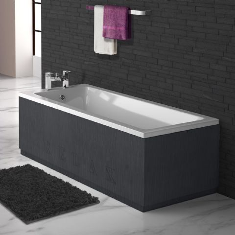 Black Graphite Engraved 2 Piece adjustable Bath Panels